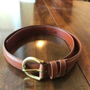 "Coach belt, glove leather. British tan, 1.5x35.5"""